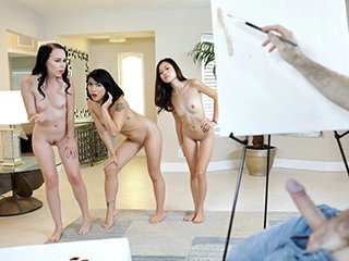Bambi Black, Vina Sky & Rina Ellis Art Perv