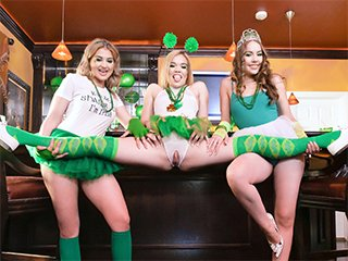 Katie Kush, Naomi Blue and Serena Avery Lust Of The Irish